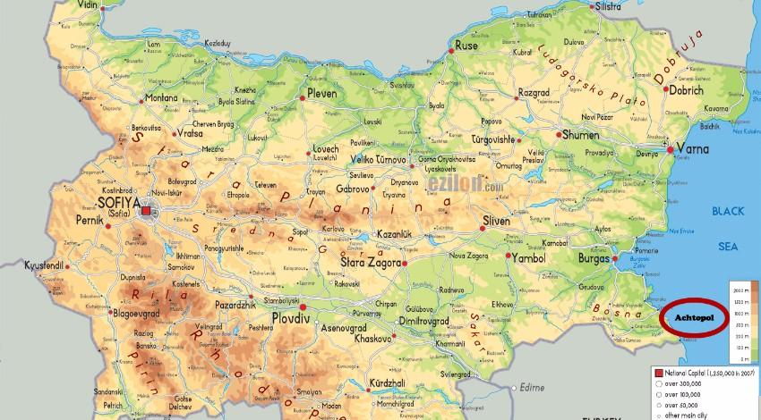 Achtopol mapa