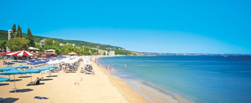 Zlaté Piesky Bulharsko pláž